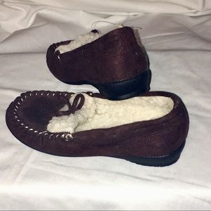 7e102661088 Beverly Hills Polo Club Shoes - Toddler Girl Sz 12 Brown Slip on Faux Fur  Shoes